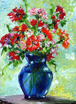 Little Blue Vase Print by Ginette Callaway