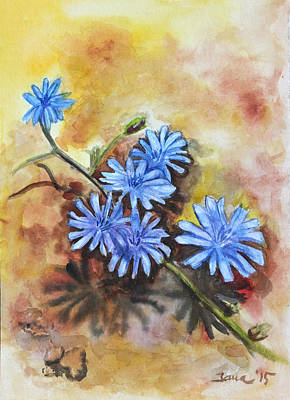 Painting - Little Blues by Jana Goode