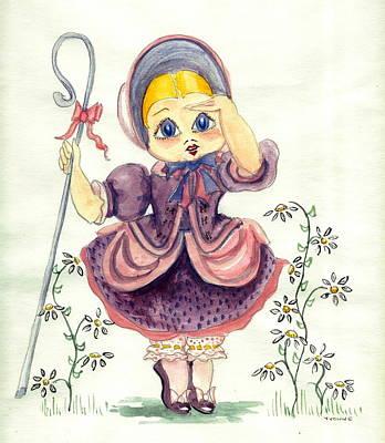 Little Bo Peep Art Print by Yvonne Ayoub