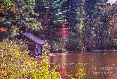Little Boat House By The Lake Art Print