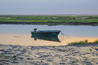 Crooked Digital Art - Little Boat On Crooked Creek - Stone Harbor by Bill Cannon