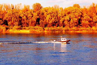 Photograph - Little Boat On Vistula by Dora Hathazi Mendes