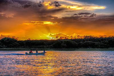 Photograph - Little Boat Sunset by Ed Roberts