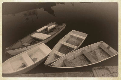 Photograph - Little Boats In Rockport Massachusetts Harbor 1981 by Garry McMichael