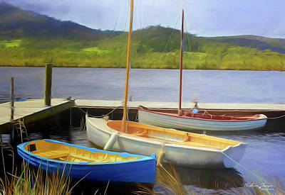 Photograph - Little Boats On The Huon by Wallaroo Images