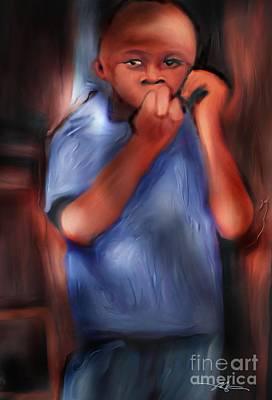 Little Boy Blue Art Print by Bob Salo