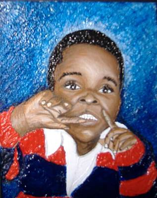 Keenya Woods Painting - Little Boy Blue  by Keenya  Woods