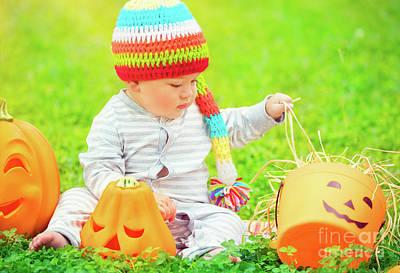 Photograph - Little Boy Celebrates Halloween by Anna Om