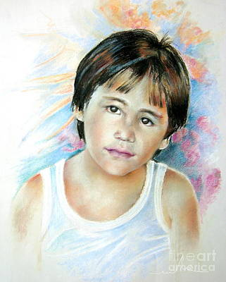 Painting - Little Boy From Tahiti by Miki De Goodaboom