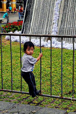 Photograph - Little Boy In Peru by Kathryn McBride