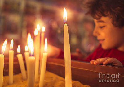 Photograph - Little Boy In The Church On Easter by Anna Om