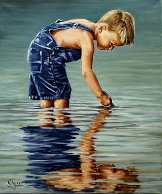 Painting - Little Boy Reflection by Natalia Tejera