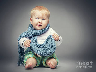 Photograph - Little Boy Smiling At The Camera. by Michal Bednarek