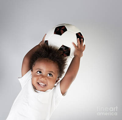 Photograph - Little Boy With Soccer Ball by Anna Om