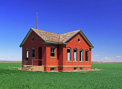 Photograph - Little Brick School House by Christopher McKenzie