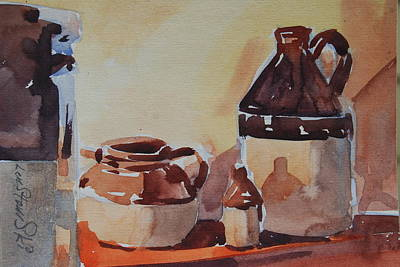 Painting - Little Brown Jugs by Len Stomski
