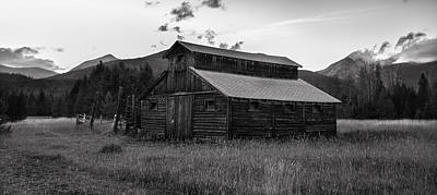 Mountain Photograph - Little Buckaroo Homestead by Thomas Schoeller