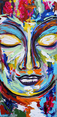 Painting - Little Buddha by Theresa Marie Johnson