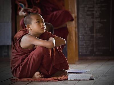 Monk Photograph - Little Buddha by Walde Jansky
