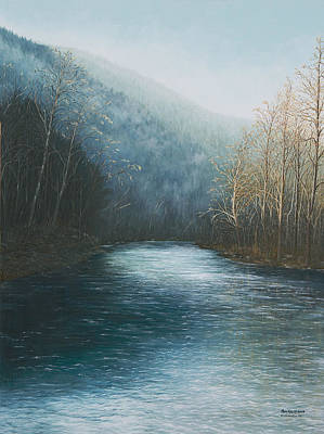 Arkansas Painting - Little Buffalo River by Mary Ann King