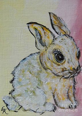 Painting - Little Bunny  by Ella Kaye Dickey