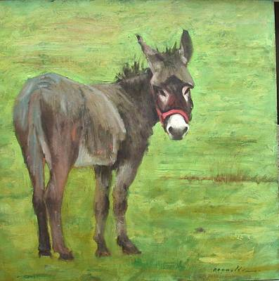 Little Burro Art Print by John Reynolds