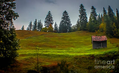 Pause Photograph - Little Cabin In The Mountains by Claudia M Photography