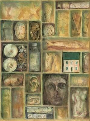 Pele Drawing - Little Cabinet  by Paez ANTONIO