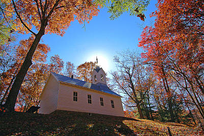 Little Cataloochee Church Art Print