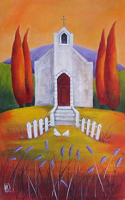 South African Artist Painting - Little Chapel 5 by Kareni Bester