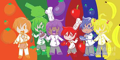 Broccoli Digital Art - Little Chefs by Veronica Ely