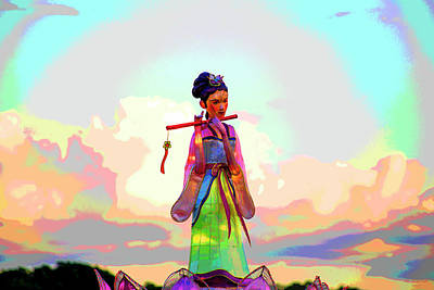 Digital Art - Little China Doll by David Stasiak