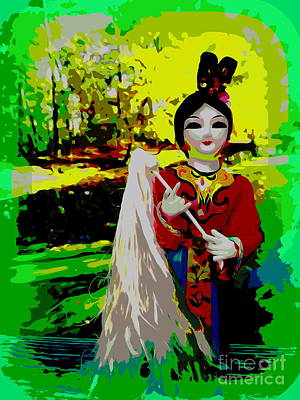 Balck Art Digital Art - Little China Girl by Ed Weidman