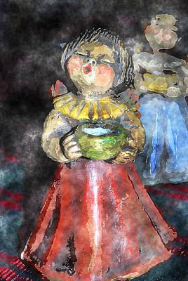Christmas Eve Digital Art - Little Christmas Angel-abstract by Patricia Motley