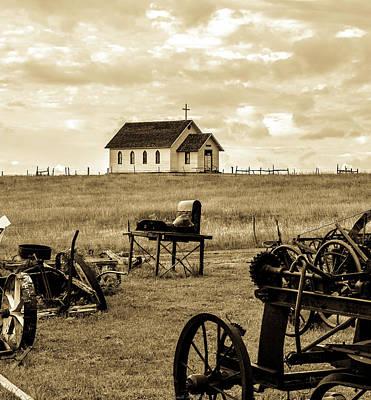 City Scenes - Little Church on the Prairie 2 by Michelle Ressler