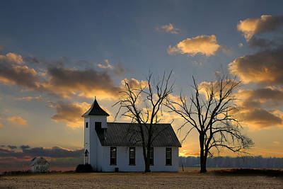 Little Church On The Prairie Art Print