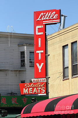 Photograph - Little City Meat Market In North Beach San Francisco 7d7455 by San Francisco