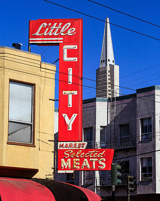 Photograph - Little City Sign North Beach by Bonnie Follett