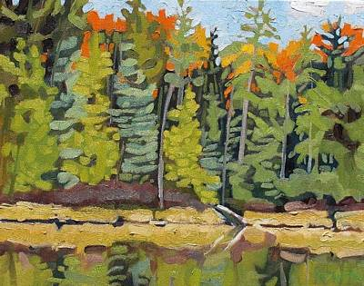 Plein Air Painting - Little Clear Shore by Phil Chadwick