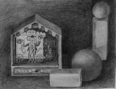 Drawing - Little Clown by Grace Diehl