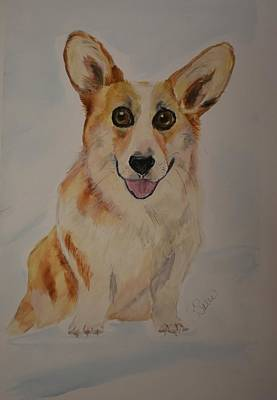 Painting - Little Corgi by Susan Voidets