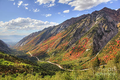 Photograph - Little Cottonwood Autumn Color by Spencer Baugh