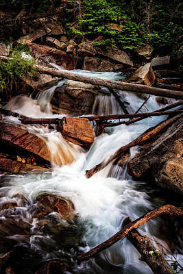 Photograph - Little Cottonwood Cascades by TL Mair