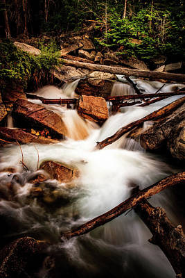 Photograph - Little Cottonwood Creek by TL Mair
