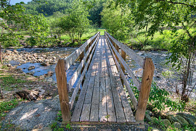 Art Print featuring the photograph Little Country Bridge by Tim Stanley