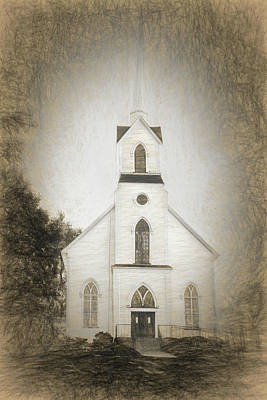Amish Photograph - Little Country Church by Marcia Colelli