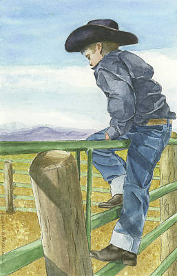 Painting - Little Cowboy II by Rowena McPherson