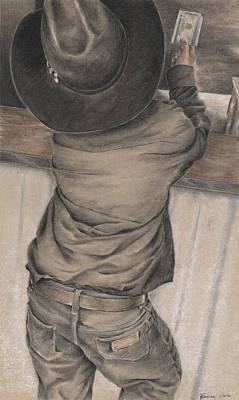 Drawing - Little Cowboy by Rowena McPherson
