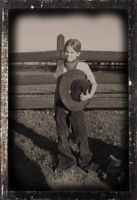 Photograph - Little Cowgirl, Big Hat by Traci Goebel