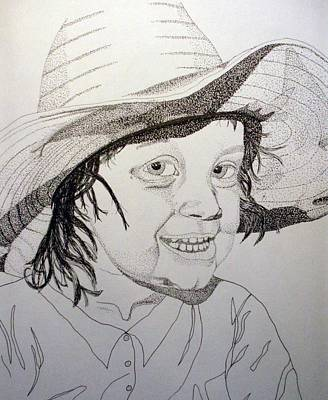Little Cowgirl Art Print by Michael Runner